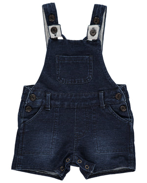 Denim effect shortie overalls