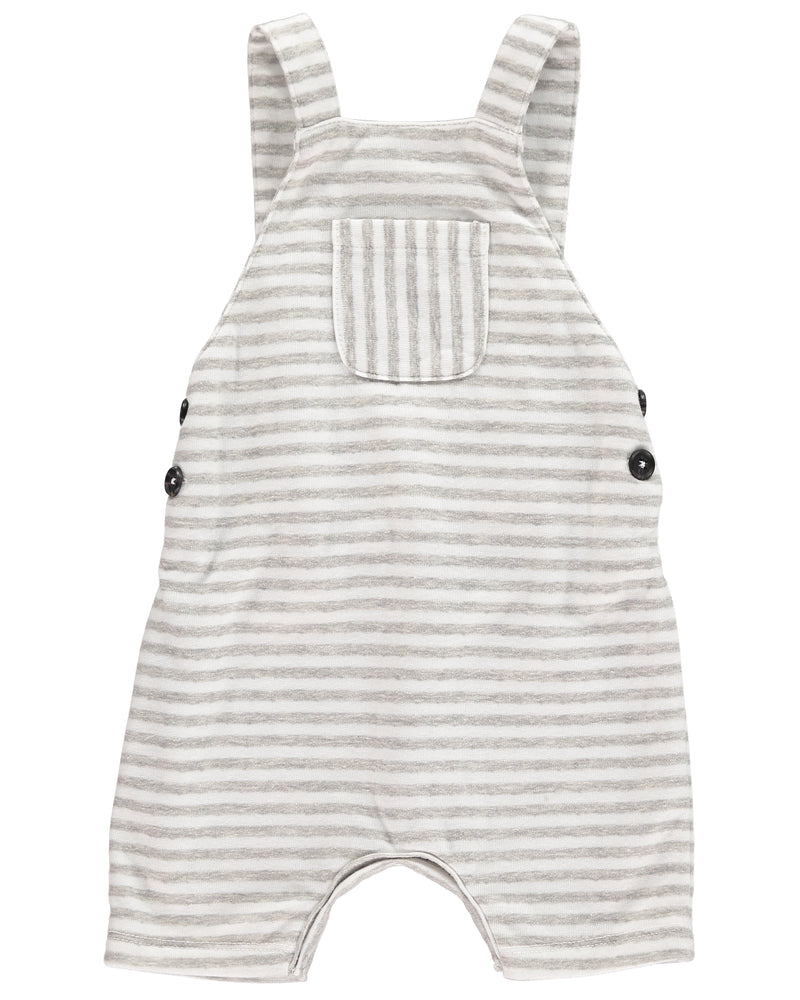 Grey/white jersey shortie overall
