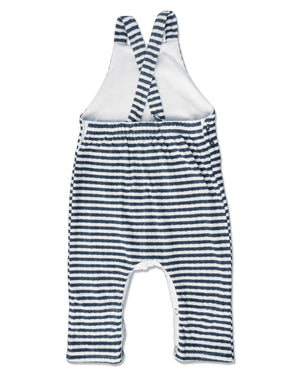 back image of striped jersey overalls for baby boy
