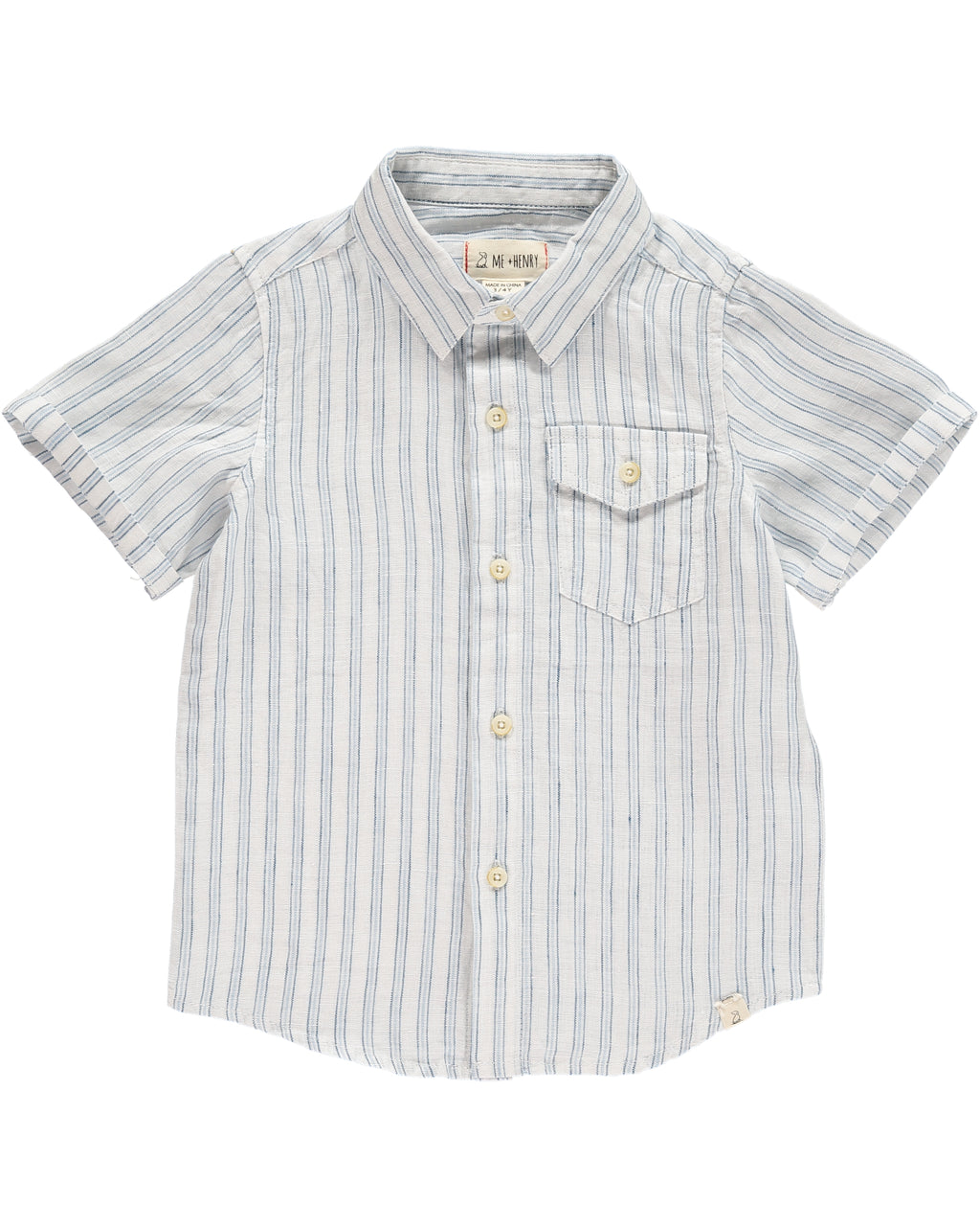 Blue/White Stripe Linen Shirt