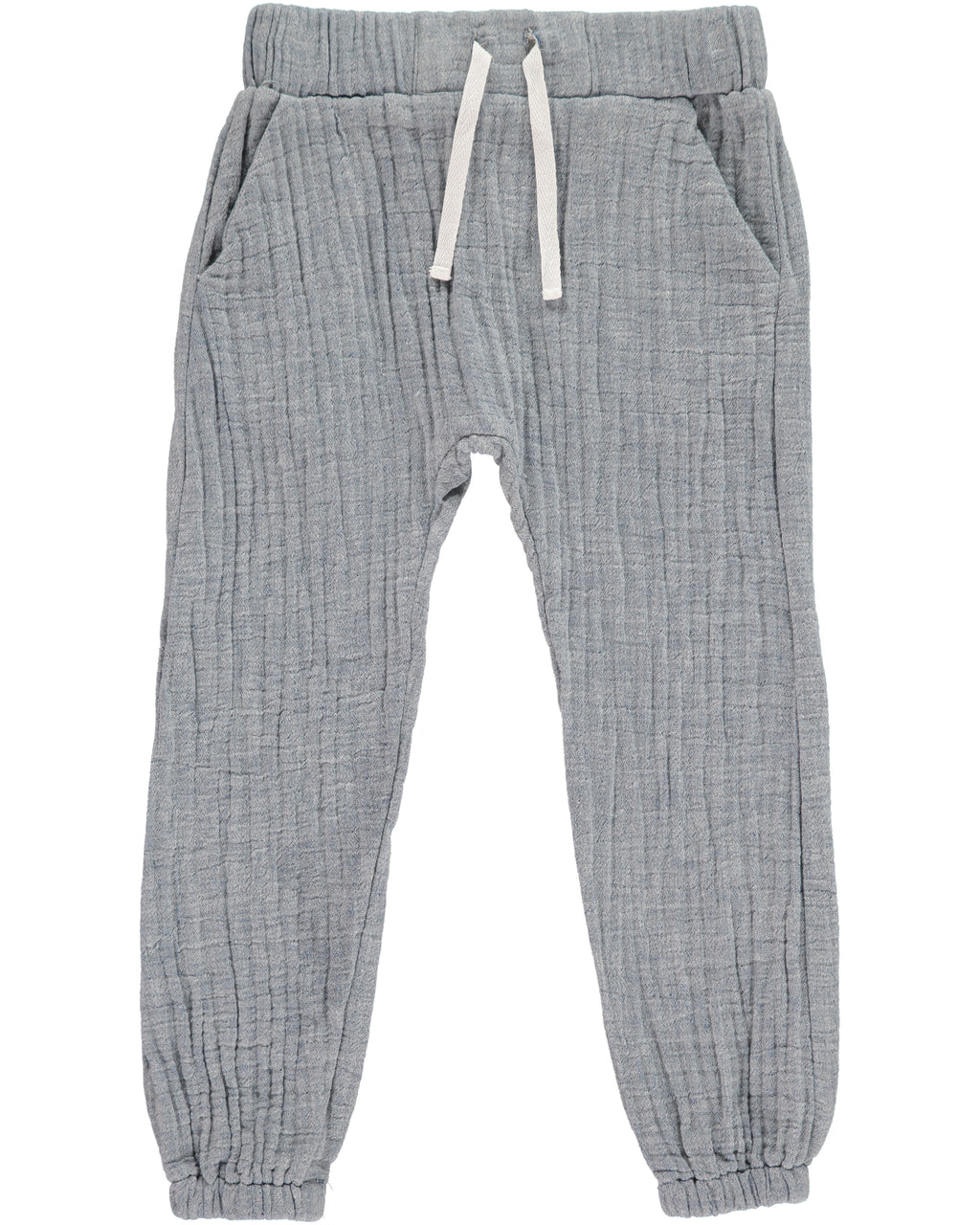 Blue Lightweight gauze Pants
