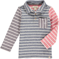 Navy/multi stripe polo shirt