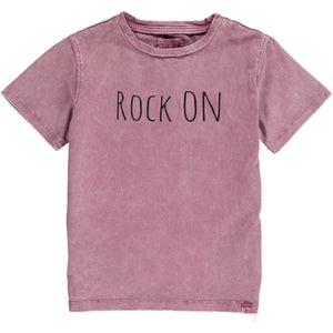 Wine 'rock on' tee