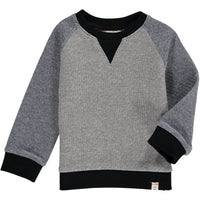 Grey/blue raglan sweat top
