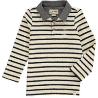 MEN'S Navy/cream stripe rugby