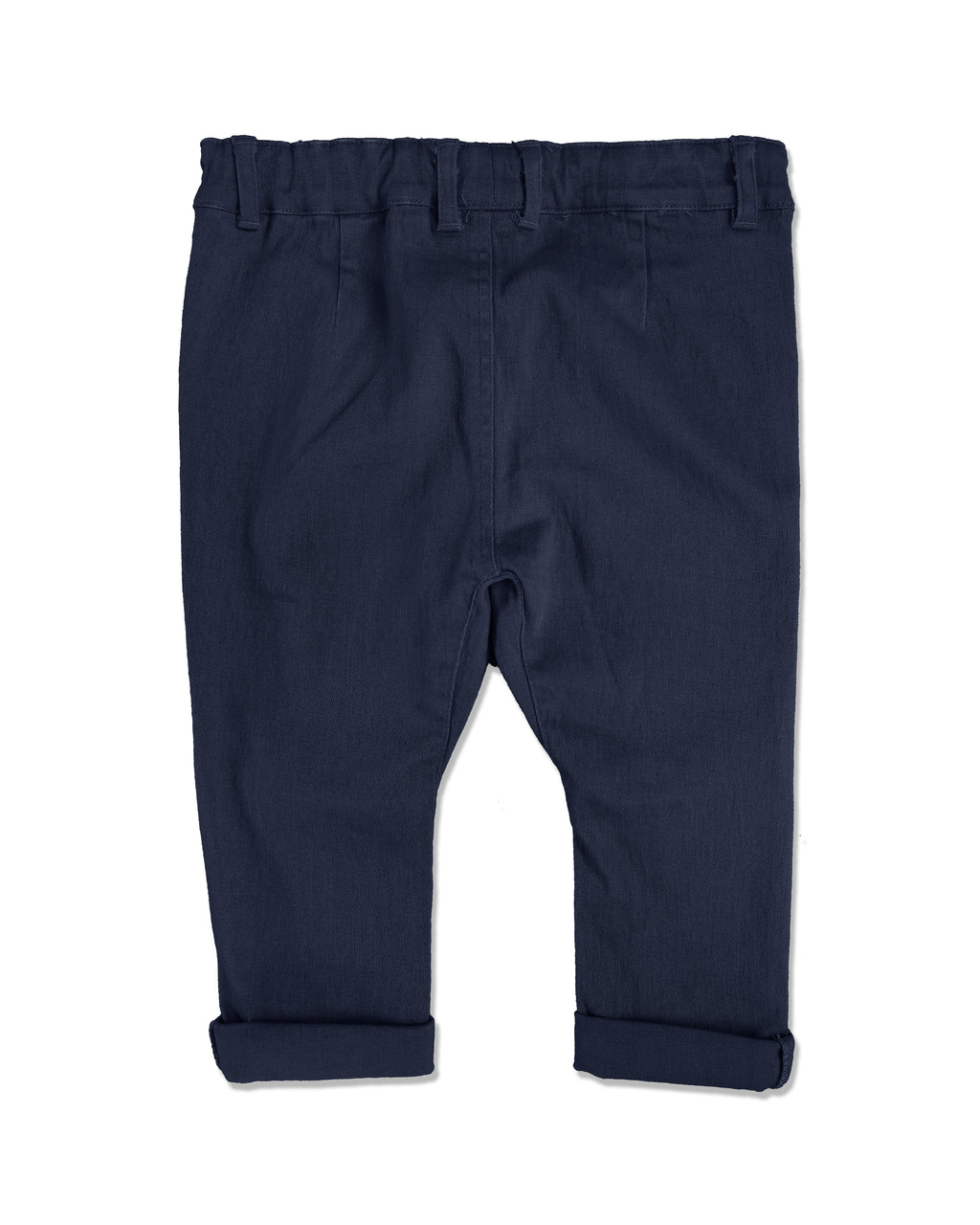 back image of navy woven pants for baby boy