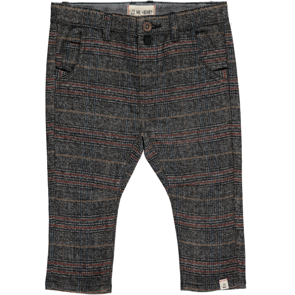 Grey check woven pants (boys)