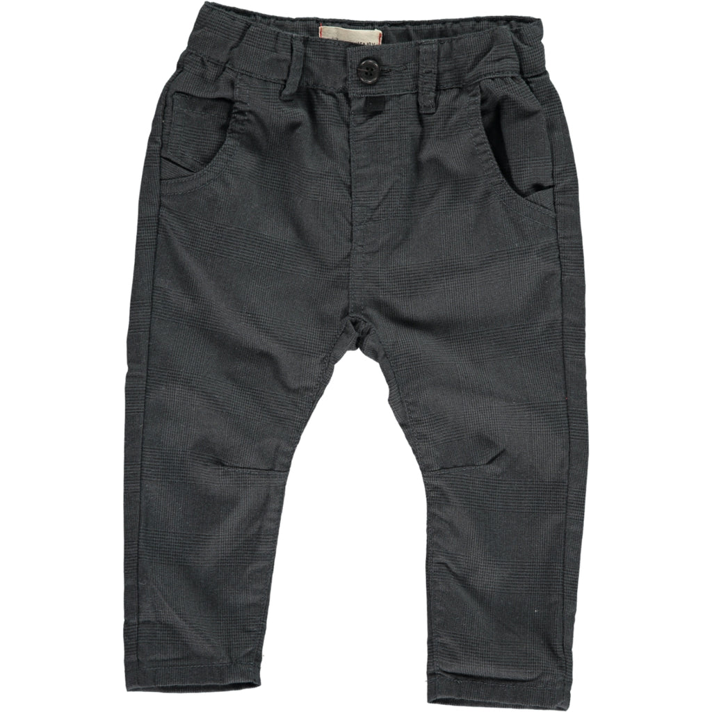 Baby black dogtooth woven pants