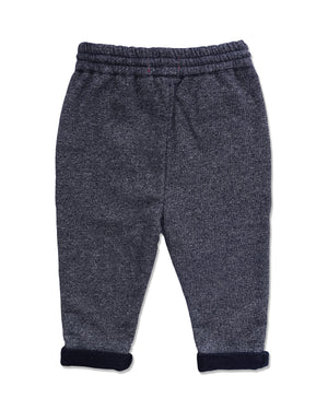 back image of blue jersey pants for boys