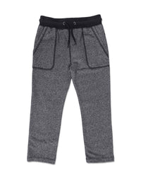 front image of grey jog pants with pockets
