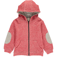 Red hooded sweat top