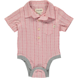 Pale red woven onesie