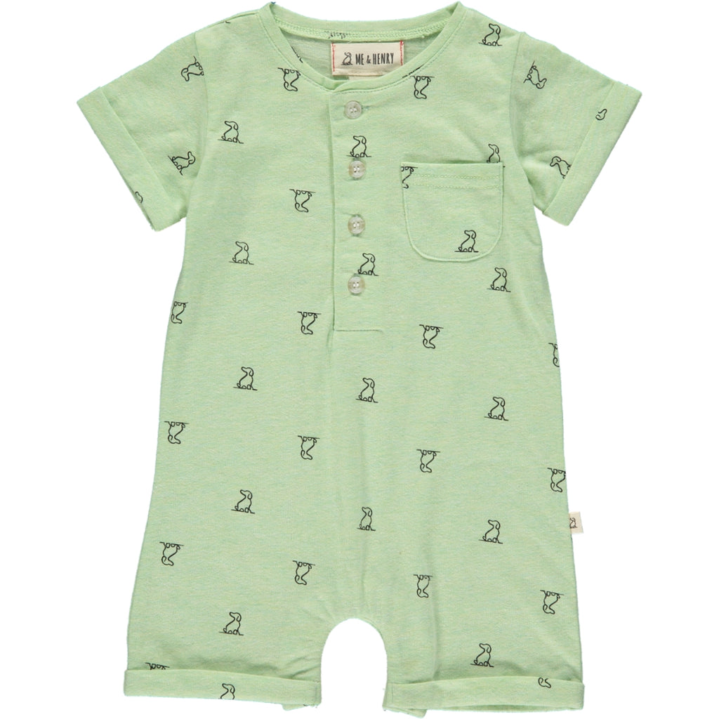 Lime Henry dog print romper