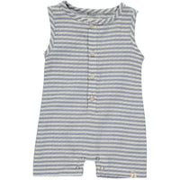 Blue/white stripe woven playsuit