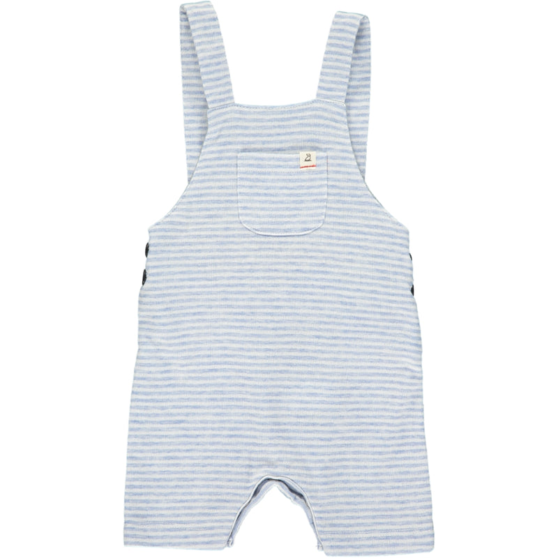 Blue/white jersey shortie overalls