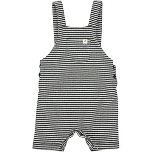 Black/white jersey shortie overalls