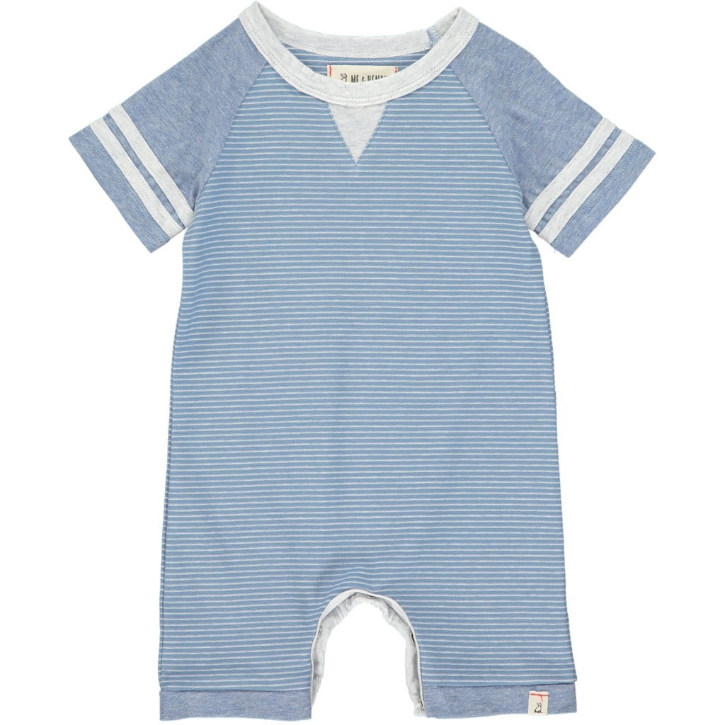 Blue/white stripe romper