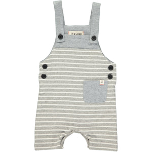Grey/white sleeveless romper