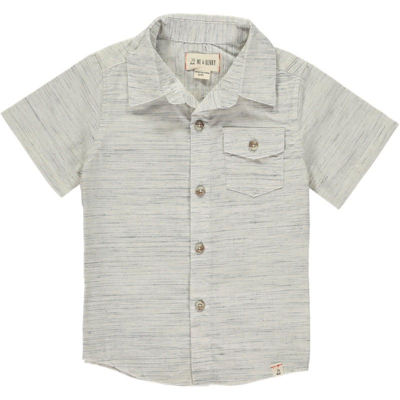 MEN'S Grey/white fleck shirt