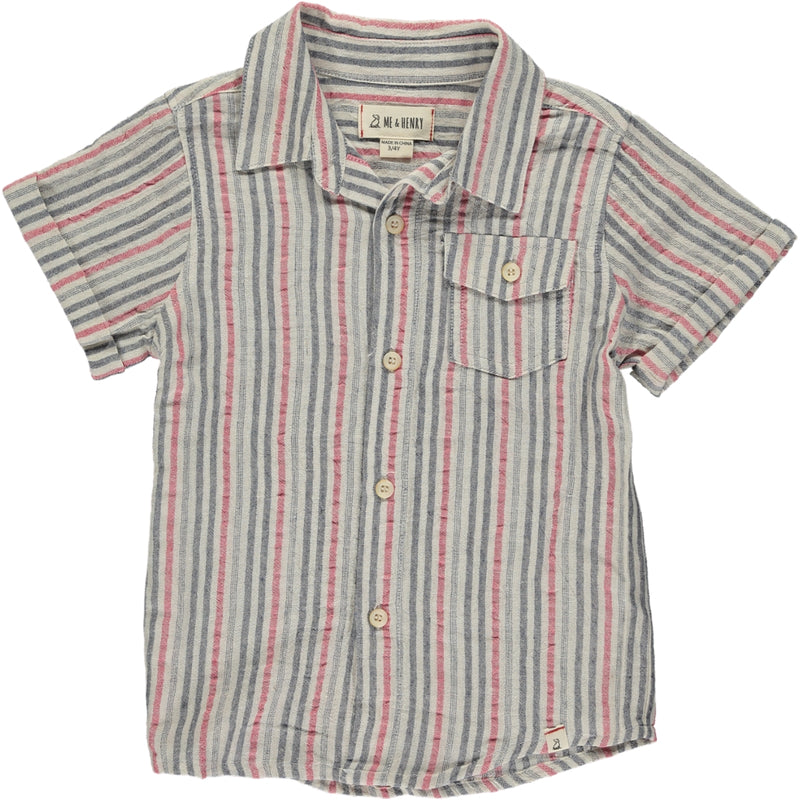 MEN'S Red/black stripe shirt