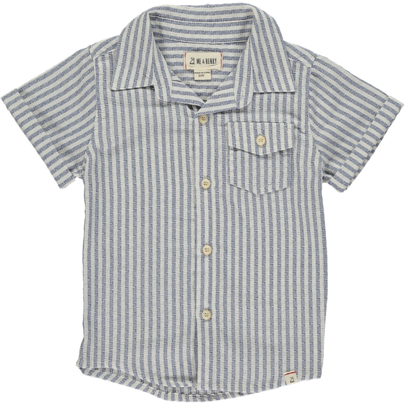 MEN'S Blue/white stripe shirt