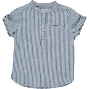 Blue/navy stripe round neck shirt