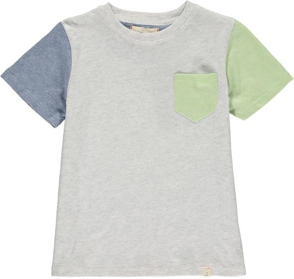 Grey colour block tee