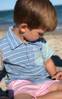 Pale Pink Twill Boys Shorts