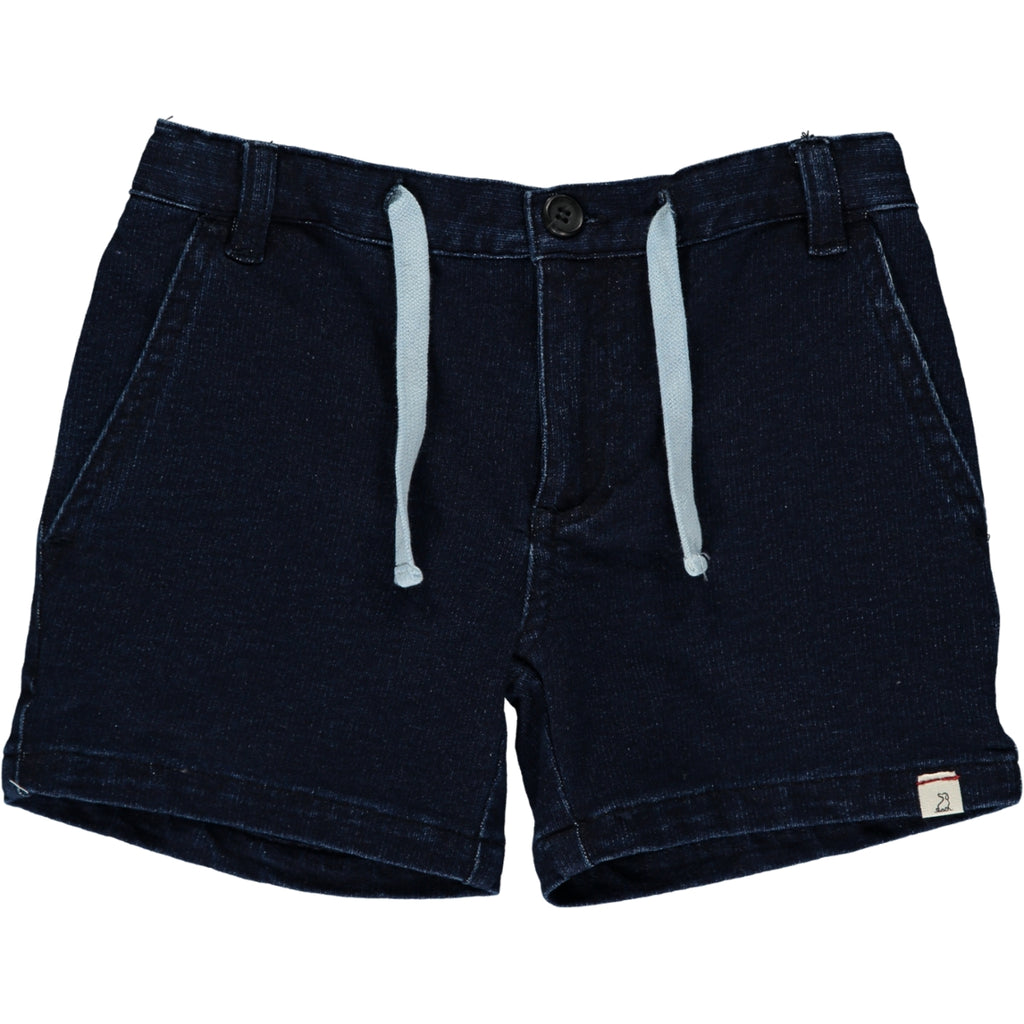 Blue denim effect shorts