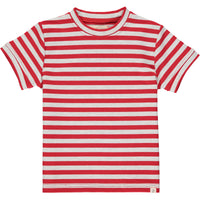 Red/grey stripe tee