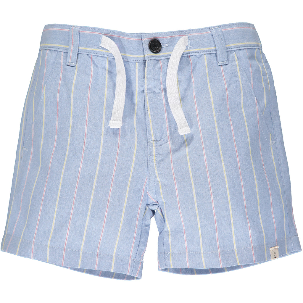 Blue/red/yellow stripe shorts