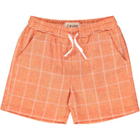 Orange grid swim shorts