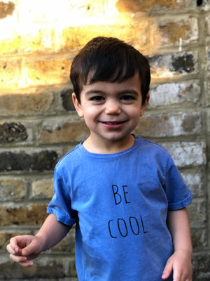 Blue 'be cool' tee