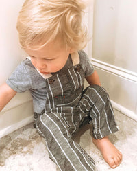 Grey woven overalls