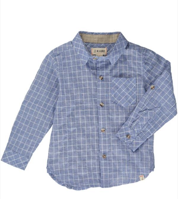 MENS Blue grid shirt