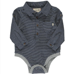 Heathered blue jersey onesie