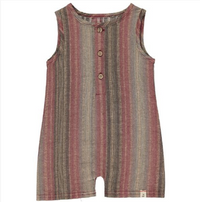 Brown woven playsuit