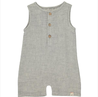 Grey woven playsuit