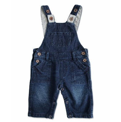 Denim effect overalls