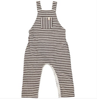 Brown striped overalls