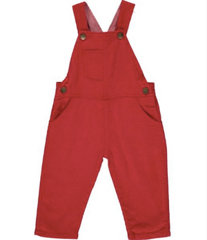 Red cord overalls