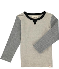 Grey stripe lightweight sweat