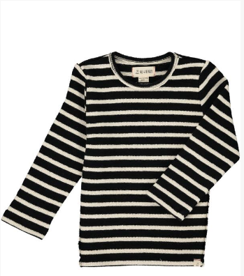 Black/cream striped top
