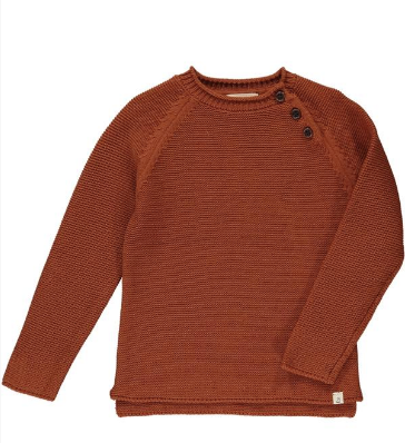 Rust cotton sweater