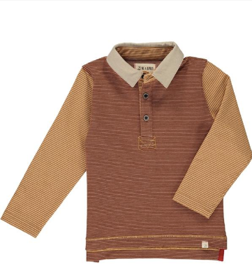 Brown/mustard stripe rugby