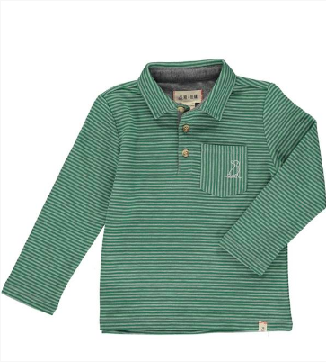 Green striped polo