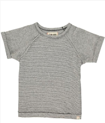 Grey striped raglan tee