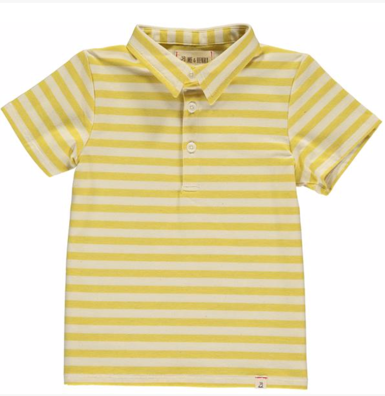 Yellow/cream stripe polo