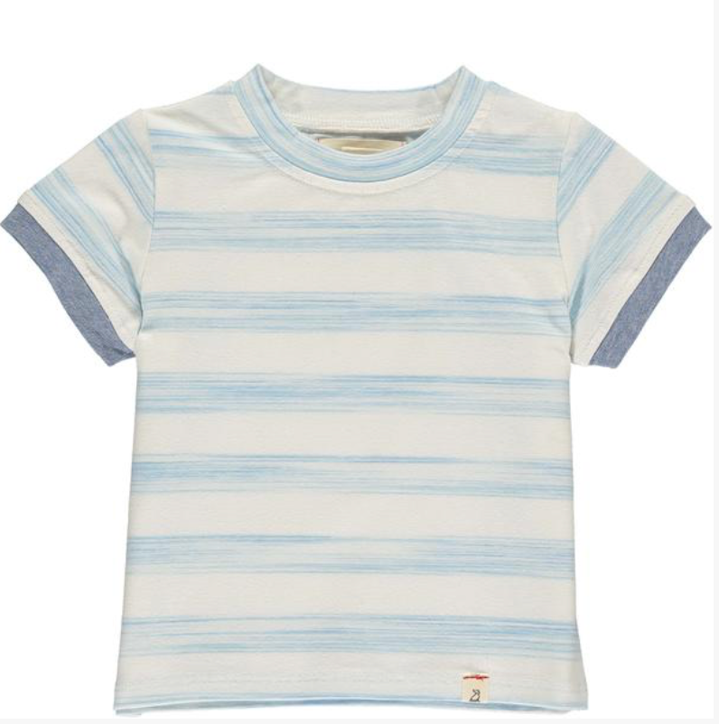 Blue/white stripe tee