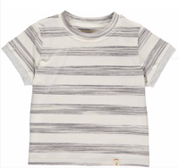 Grey/white stripe tee
